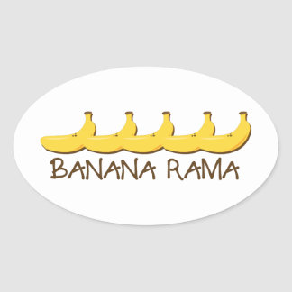 Banana Rama Oval Sticker