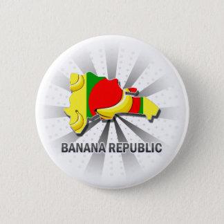 Banana Republic Flag Map 2.0 Pinback Button