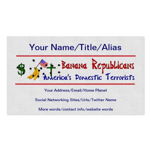 Banana Republicans Business Card