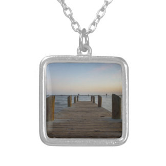 Banana River Dock Silver Plated Necklace