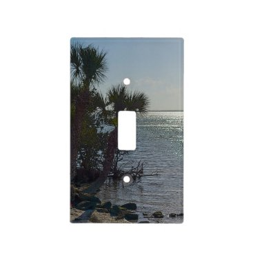 Banana River Palm Trees Painterly Light Switch Cover