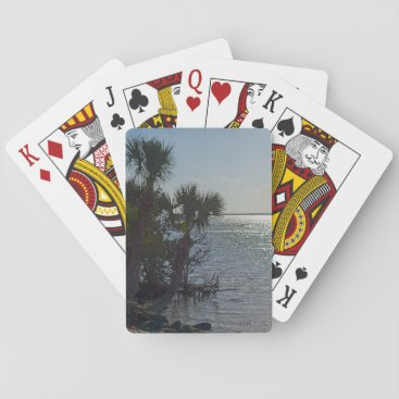 Banana River Palm Trees Painterly Playing Cards