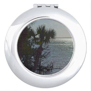 Beach Themed Banana River Palm Trees Painterly Vanity Mirror