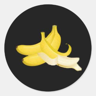 Banana Round Stickers