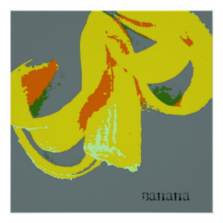 Banana Silk Screen Image Poster