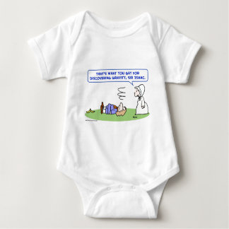 banana sir isaac newton gravity discovering baby bodysuit