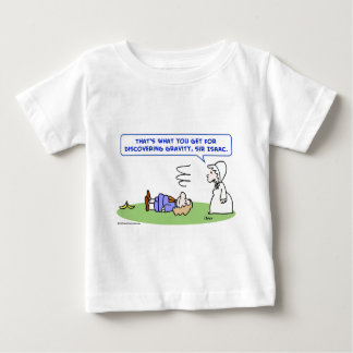 banana sir isaac newton gravity discovering baby T-Shirt