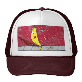 Banana Slipping on a Person Hat