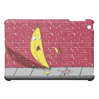 Banana Slipping on a Person IPad Case