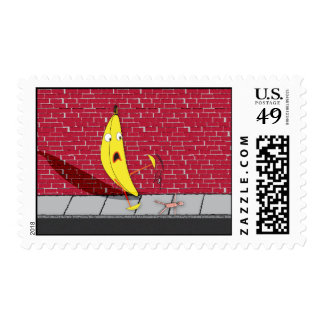 Banana Slipping on a Person Stamp