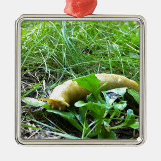 Banana Slug Metal Ornament