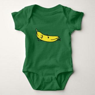 Banana smiling laying down cute relaxing baby bodysuit