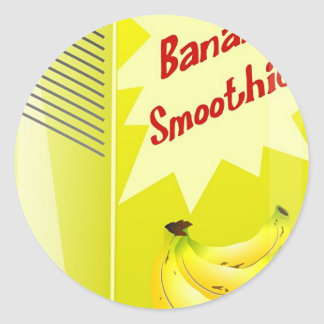 Banana Smoothie Classic Round Sticker