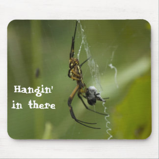 Banana Spider Hangin' in there Mouse Pad