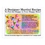 Banana Split Ice Cream Martini Recipe Card Post Cards