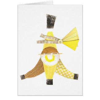Banana Split No Background Greeting Card