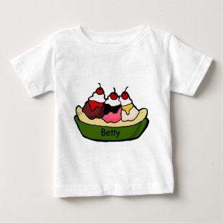 Banana Split Sweet Ice Cream Treat Baby T-Shirt