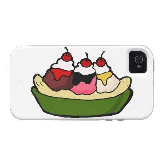Banana Split Sweet Ice Cream Treat Vibe iPhone 4 Cases