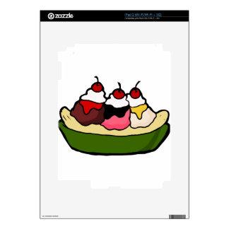 Banana Split Sweet Ice Cream Treat Decals For iPad 2