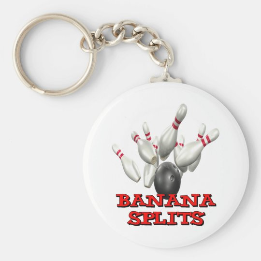 Banana Splits Bowling Keychain