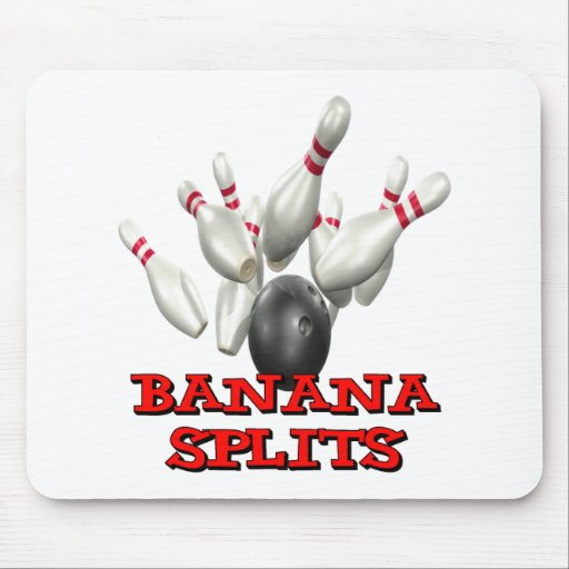 Banana Splits Bowling Mousepad