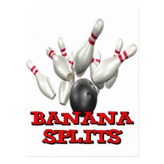 Banana Splits Bowling Postcard