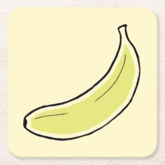 Banana Square Paper Coaster