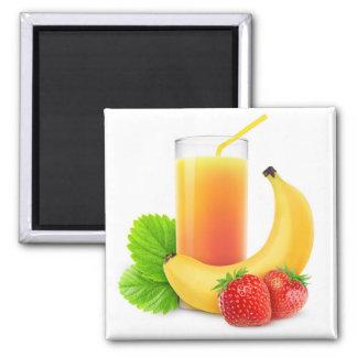Banana strawberry shake magnet