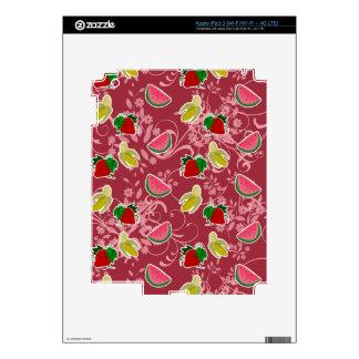 Banana Strawberry Watermelon Pattern iPad 3 Skins