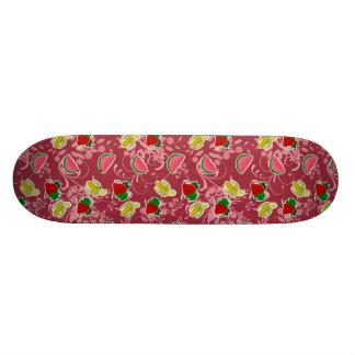 Banana Strawberry Watermelon Pattern Skateboard
