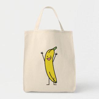 Banana that's happy, celebrating and cheering tote bag