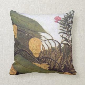 Banana Tree Jungle by Rousseau Pillow