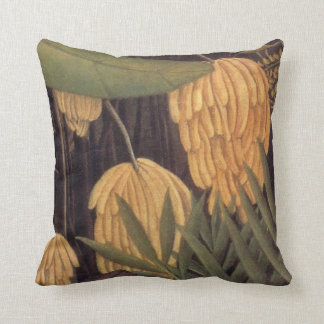 Banana Tree Jungle with Oranges by Henri Rousseau Throw Pillow
