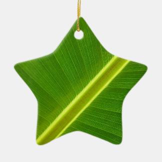 Banana Tree Leaf Ceramic Ornament