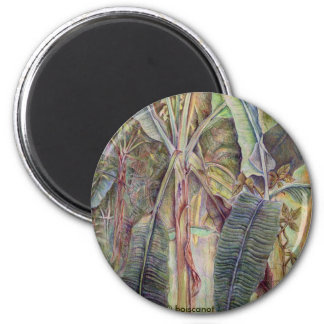 Banana Trees 2 Inch Round Magnet