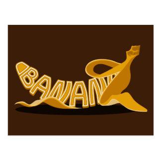 Banana Typo Postcard