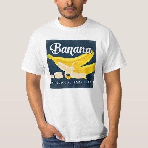 Banana Vintage Fruit Label Retro