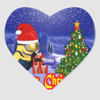 Banana welcome Christmas Eve Heart Sticker