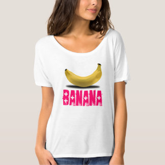 BANANA WITH PINK TEXT T-Shirt