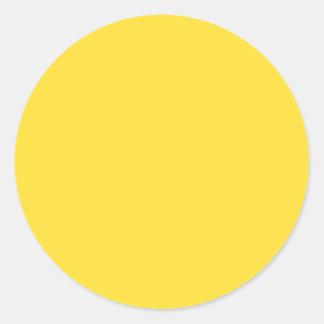 Banana Yellow Round Sticker