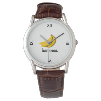 bananaa Brown Leather Men's Wristwatch - LE.