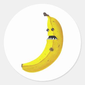 Bananaaargh Classic Round Sticker