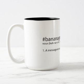 #bananagram defined Two-Tone coffee mug
