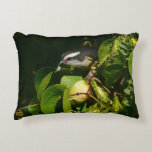 Bananaquit Bird Eating Tropical Nature Photography Accent Pillow
