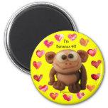 Bananas 4 U Love Monkey Personalized Magnets