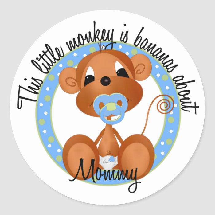 Bananas About Mommy Classic Round Sticker