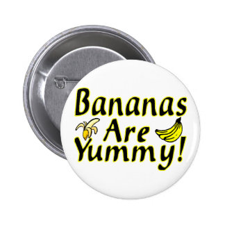 Bananas Are Yummy Pinback Buttons