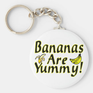 Bananas Are Yummy Keychain
