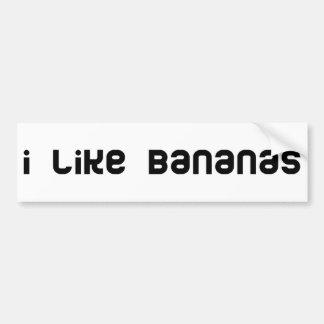 Bananas cool humor! bumper sticker