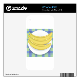 bananas decal for iPhone 4